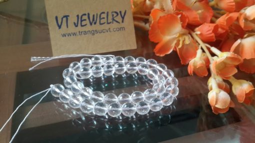 Thạch anh trắng trong 8mm
